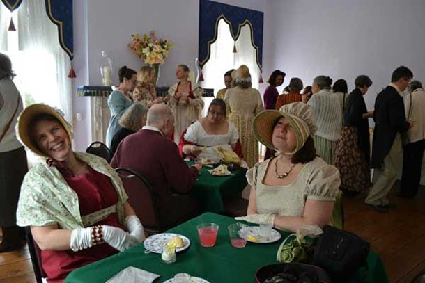 Columbia County Historical Society and Clermont State Historic Site hosted Formally Invited, an early 19th-century tea party, at the Vanderpoel House of History in Kinderhook on March 16.