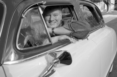Conaty tours Hudson in his 1950 Nash Ambassador Custom. - F-STOP FITZGERALD