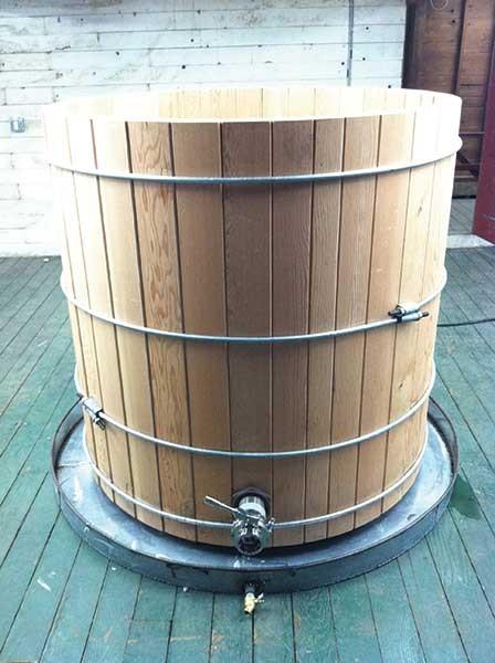 Coppersea Distilling's wooden fermenter.