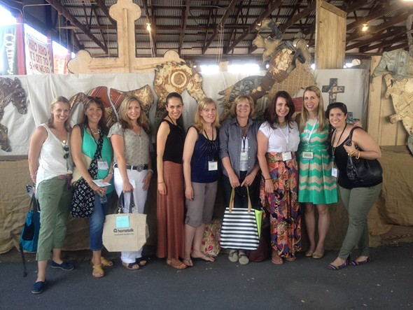Country Living Editor-in-Chief Rachel Hardage with Hometalk Director and VIPs