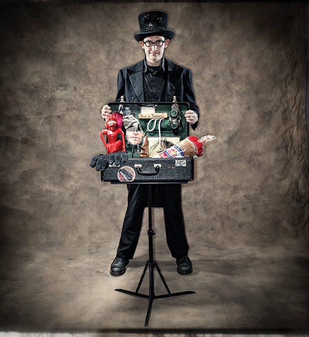 David London brings his suitcase of magic to Sugar Loaf this month. - CHRISTOPHER MYERS
