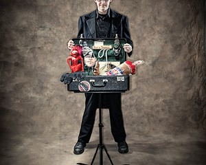 David London brings his suitcase of magic to Sugar Loaf this month.