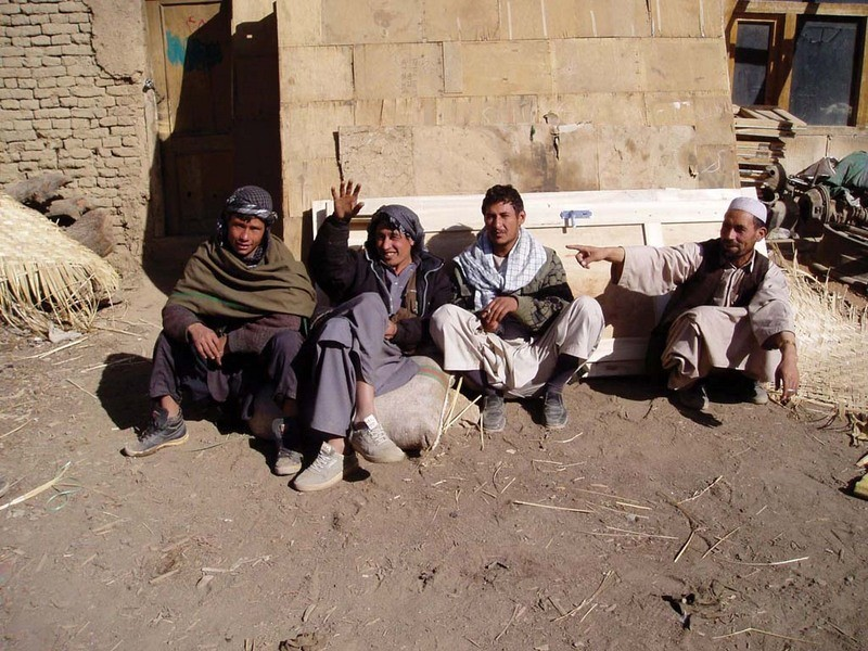 Day laborers on the street in Kabul, hoping for work.