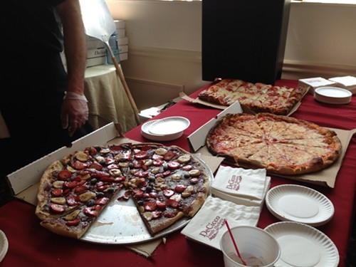 DeCiccos Pizza from Brewster won Best Overall Pizza