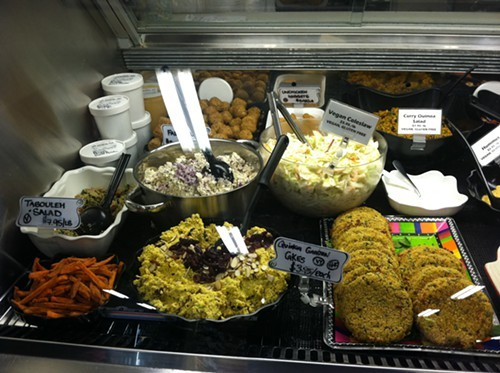 Delicious vegetarian deli offerings at Mother Earths Storehouse