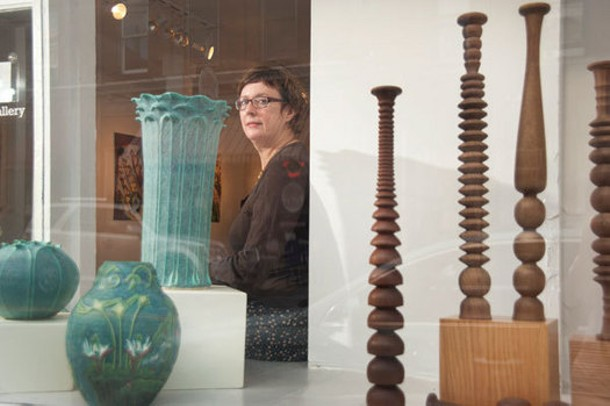 Diane Dwyer, owner of Imogen Holloway Gallery in Saugerties.