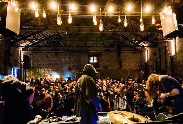 DIIV performing at the Basilica SoundScape festival on 9/13.
