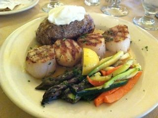Diver Scallops at Land & Sea Grill Steakhouse in Saugerties