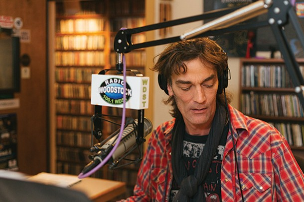 DJ Greg Gattine at Radio Woodstock. - TOM SMITH