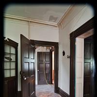 Matt Kinney's Mansion Makeover Doors into hallway and into dining room. Deborah DeGraffenreid