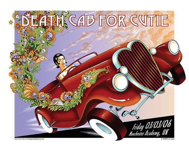 EMEK's poster for a Death Cab for Cutie concert