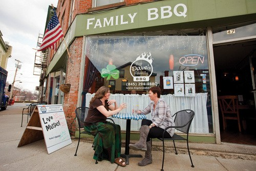 Erin McGovern and Ellen Mary O'Brien at Big Dave's Family BBQ in Goshen. - STEFFEN THALEMANN