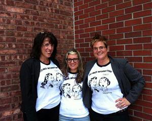 Eva Tenuto, Sari Botton, and Julie Novak of the TMI Project