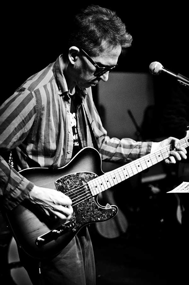Feelies frontman Glenn Mercer performs with Yung Wu at BSP Lounge on January 19. - ANDREW MACGREGOR