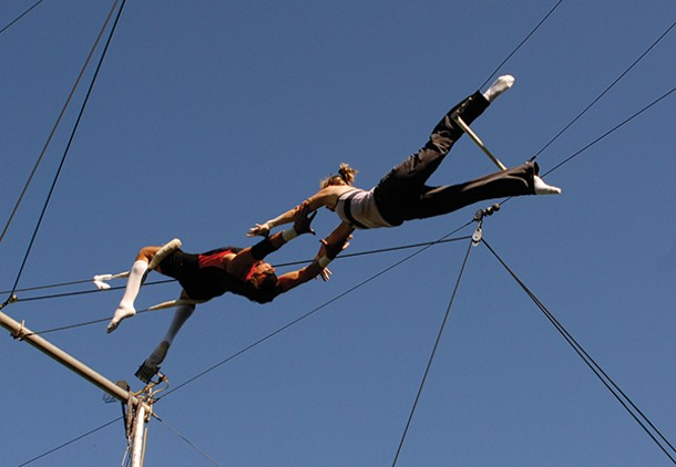 Flying Trapeze Workshop: An Adventure in Self-Discovery, with Peter Gold and the Trapeze-Experience Team.