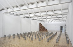 INSTALLATION VIEW, CARL ANDRE: SCULPTURE AS PLACE, 1958–2010, DIA:BEACON, RIGGIO GALLERIES, BEACON, NEW YORK.  MAY 5, 2014–MARCH 2, 2015. ART © CARL ANDRE/LICENSED BY VAGA, NEW YORK, NY. PHOTO: BILL JACOBSON STUDIO, NEW YORK.