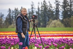 LEPP - George Lepp, in the tulip patch