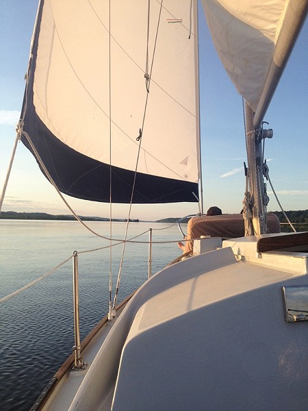 Getting away, if only for a few hours, on the Hudson River with the Tivoli Sailing Company.