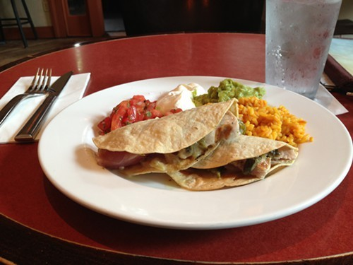 Grilled Ahi Tuna Fish Tacos at Terrapin Red Bistro in Rhinebeck