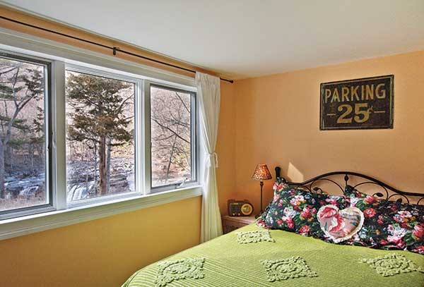Guest room with view of the falls.
