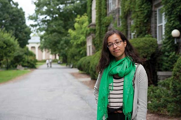 Homeschooler Marley Alford on the Bard College campus.