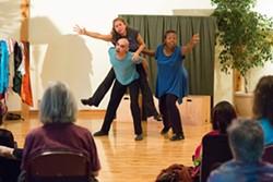 HRPT performers from left: Lauren Ardman, Ricardo Perez Gonzalez (guest), Jody Satriani