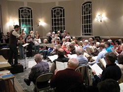 STEVE FEINMAN - Hudson Chorale in Rehearsal