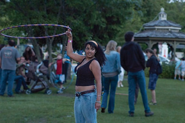 Hula girl at the Spring for Sound music festival in Millerton on June 15.