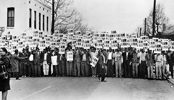 I Am A Man, Sanitation Workers Strike, Memphis, Tennessee, March 28, 1968, Ernest C. Withers, Gelatin Silver Print.