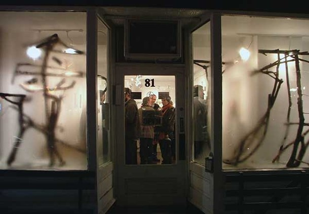 "Imogen Holloway Gallery hosted an opening for the exhibition ""Bent"" during Saugerties First Friday in March."