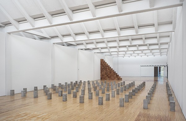 "Installation view, ""Carl Andre: Sculpture as Place, 1958–2010,"" Dia:Beacon. Through March 2, 2015. - ART © CARL ANDRE/LICENSED BY VAGA,NEW YORK, NY.  PHOTO: BILL JACOBSON STUDIO, NEW YORK. COURTESY DIA ART FOUNDATION"