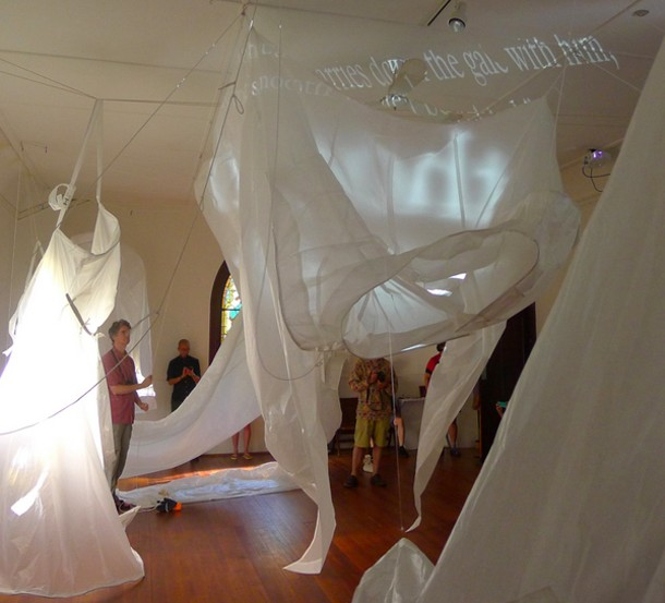 """""""It's a Big World in There,"""" Kate Hamilton, July 2014, CHRCH Project Space, Rosendale. - DAVID APPELBAUM"""