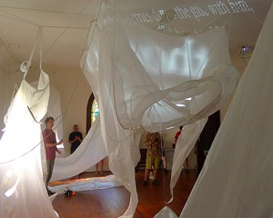 """""""It's a Big World in There,"""" Kate Hamilton, July 2014, CHRCH Project Space, Rosendale."""