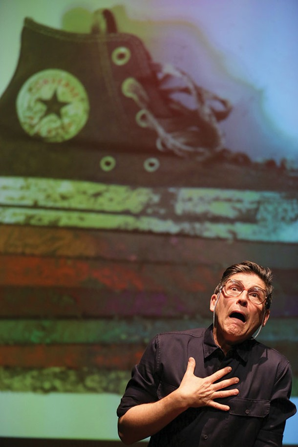 "James Lecesne performs in ""The Absolute Brightness of Leonard Pelkey."" - PETER YESLEY"