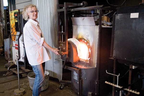 Jan Gilmore of Gilmore Glass in Millerton.