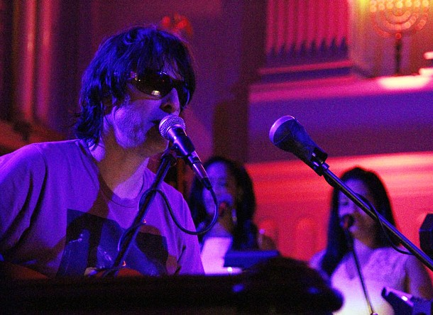 Jason Pierce of the UK-based band Spiritualized performs Sunday night at the Old Dutch Church in Kingston as part of the O+ Festival. - ERIC FRANCIS COPPOLINO
