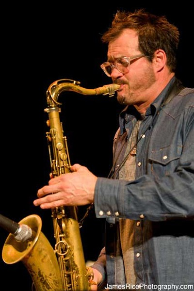 Jay Collins played at the Falcon on February 9 with the King County Band.
