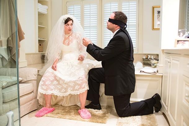 "Jennifer Skura and Greg Skura in Half Moon Theatre's production of ""Love/Sick"" - JENNIFER KIABA"