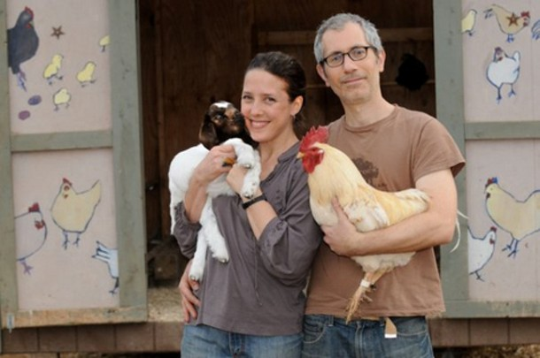 Jenny Brown and Doug Abel, founders of the Woodstock Farm Animal Sanctuary.