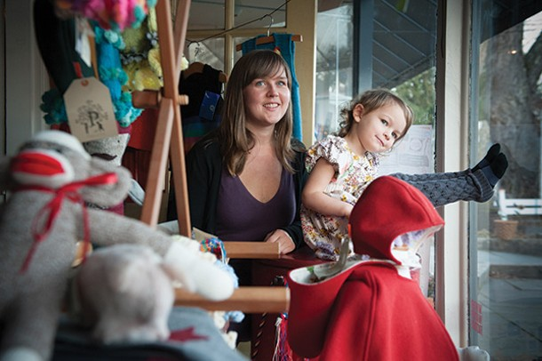 Jessica Walsh and her daughter Pearl at Illuminated Baby in Woodstock. - JENNIFER MAY
