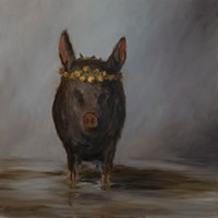 Art Excerpts Joe Concra, Little Stinkin' Piglet, oil on canvas, 2/12