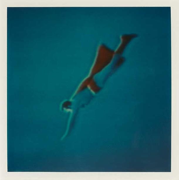 John Maggiotto - Untitled (Superman), 1983 - Polaroid SX-70 print - Collection of William Currie; © John Maggiotto