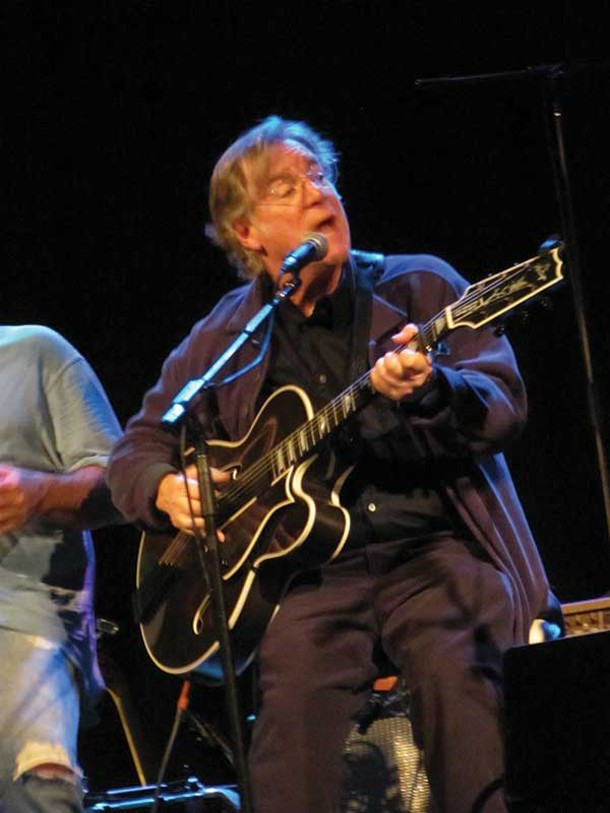 John Sebastian at Hudson Valley Artists' Hurricane Sandy Relief Concert Benefit for Family of Woodstock and the American Red Cross at Bearsville Theater on November 11. - MARIAN TORTORELLA.