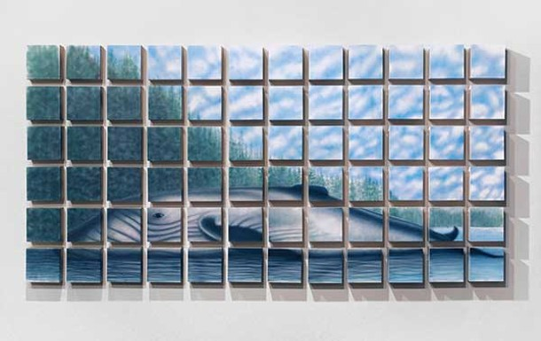 Joseph Ayers, Deposition, 2011, overall dimensions 36″ x 72″ x 2″ - (72 individual panels at 5″ x 5″ x 2″)