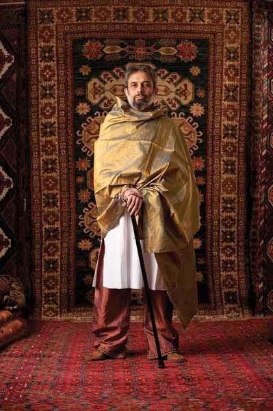Joydeep Roy-bhattacharaya at Anatolia Tribal rugs in Woodstock - JENNIFER MAY