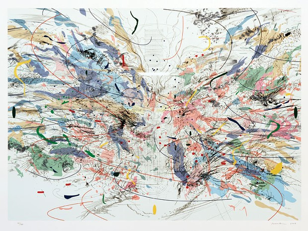 Julie Mehretu, Entropia (review), lithograph and screenprint, 2004