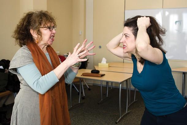 "Kathryn Grody as Marty and Alexanda Napier as Theresa in ""Circle Mirror Transformation."" - JEN KIABA"