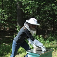 Hudson Valley Bee Supply Katie Benevento working at Hudson Valley Bee Supply Peter Barrett