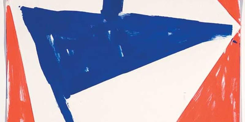 "Bent Ken Gray, Flag, poster paint on 2-ply bristol, 12"" X 9""."