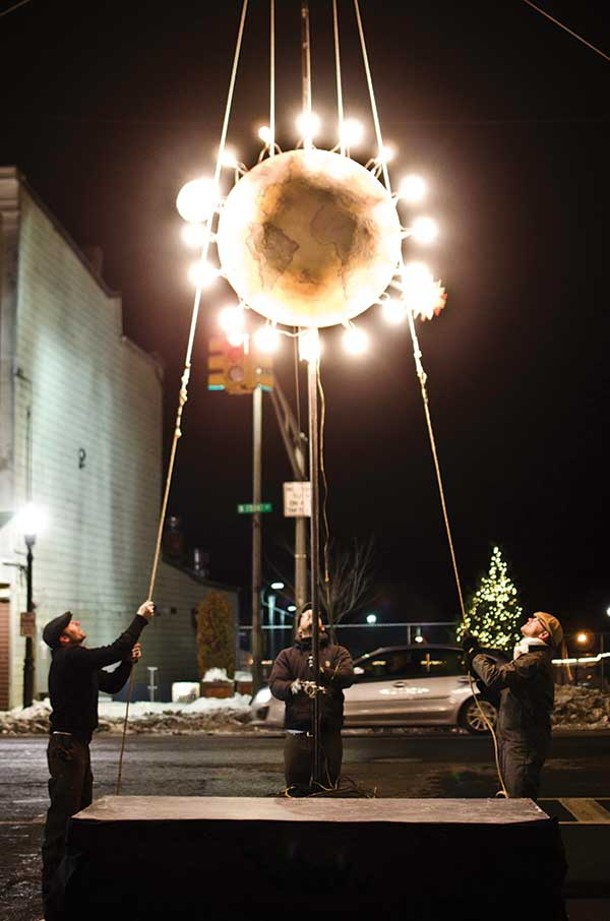 Kingston's first ever ball drop on New Year's Eve. - ANDREW MACGREGOR